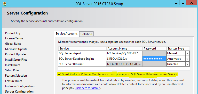 IFI - auto enable SQL 2016