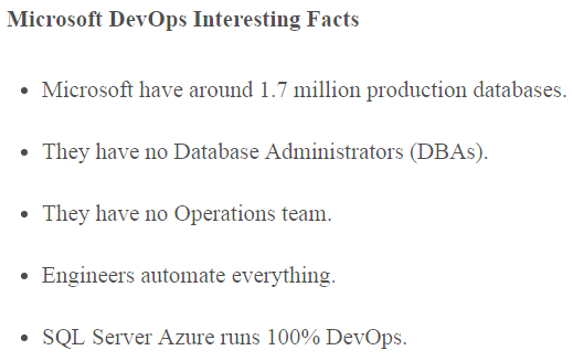 MS devops facts